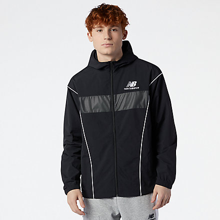 NB NB Athletics Windbreaker, MJ11500BK image number null