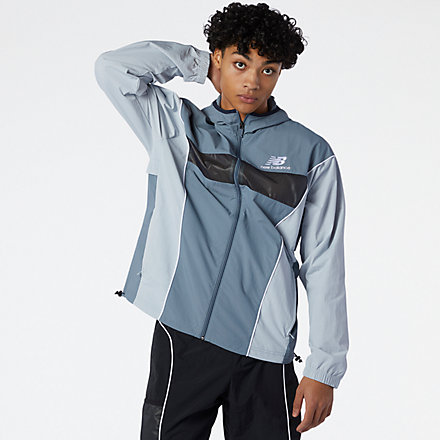 New Balance NB Athletics Windbreaker, MJ11500OGR image number null