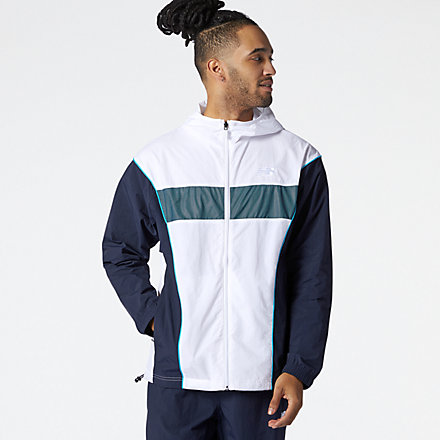 New Balance NB Athletics Windbreaker, MJ11500WT image number null