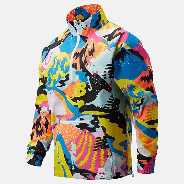 New Balance Pride系列男女同款梭织外套, MJ11519WM