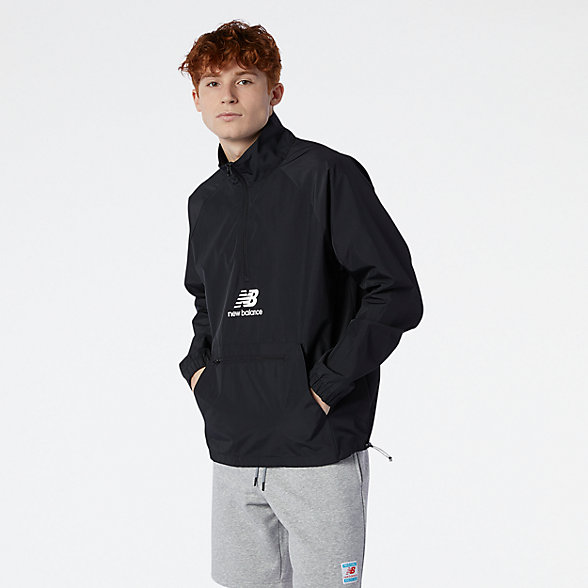 NB NB Essential Anorak, MJ11527BK