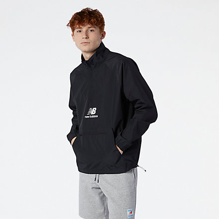 NB NB Essential Anorak, MJ11527BK image number null