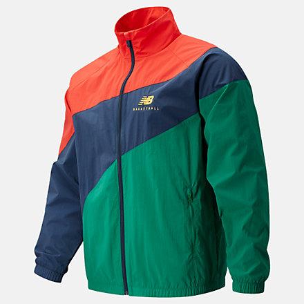 NB NB Basketball Woven Court Jacket, MJ11589NGO image number null
