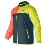 New Balance Windcheater Jacket, Galaxy with Firefly & Bright Cherry