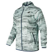 New Balance Windcheater Jacket, Wood with Light Grey