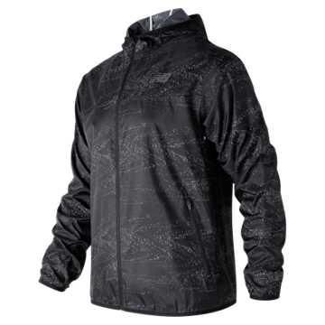 New Balance Windcheater Jacket, Black Interference Stripe