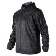 NB Windcheater Jacket, Black Interference Stripe