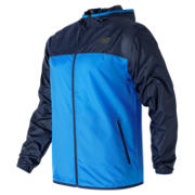 New Balance Windcheater Jacket, Electric Blue with Pigment