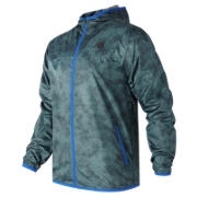 New Balance Windcheater Jacket, Typhoon with Black