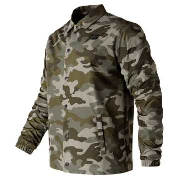 New Balance Classic Coaches Jacket, Camo Green