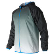 New Balance Hombre Windcheater Jacket, Black Multi