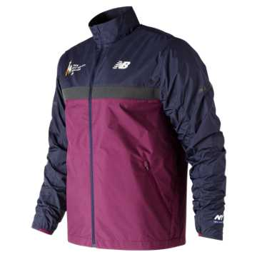 New Balance NYC Marathon Windcheater Jacket, Claret