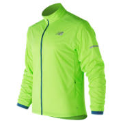 New Balance Speed Run Jacket, Energy Lime with Moroccan Blue