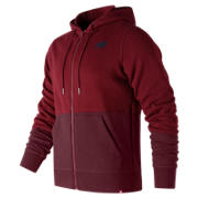 New Balance Veste à capuche et fermeture à glissière pleine longueur Essentials, Rouge mercure