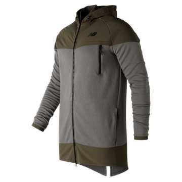 New Balance 247 Knit Woven Jacket, Military Foliage Green