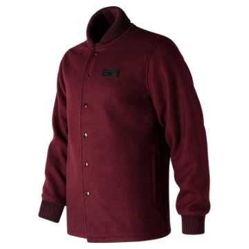 New Balance MiUSA Wool Jacket, Chocolate Cherry