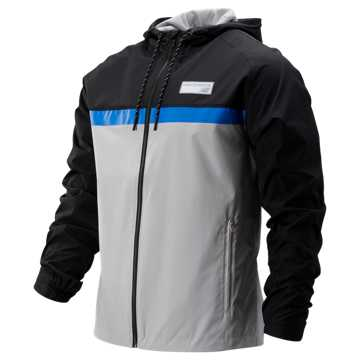New Balance NB Athletics 78 Jacket, Summer Fog with Black & Vivid Cobalt