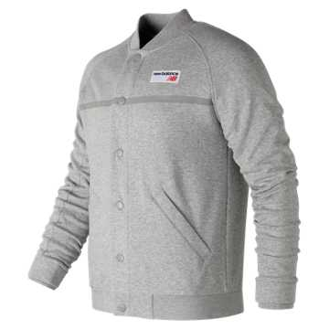 New Balance NB Athletics Snap Front Fleece, Athletic Grey