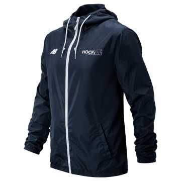 New Balance HOCR Windbreaker, Navy with White