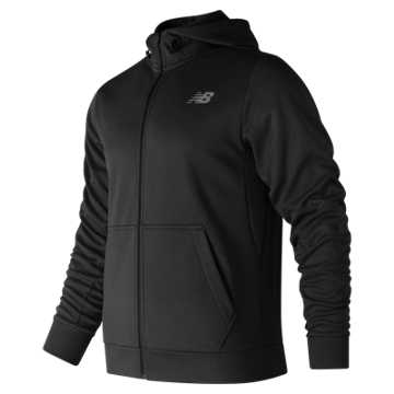 New Balance NB CoreFleece Full Zip Hoodie, Black
