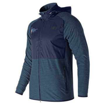 New Balance NYC Marathon Anticipate Finisher Half Zip, Black with Pigment