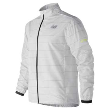 New Balance Reflective Packable Jacket, Arctic Fox