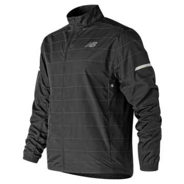 New Balance Reflective Packable Jacket, Black