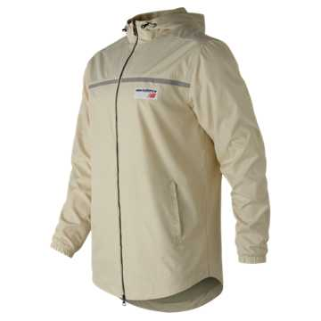 New Balance NB Athletics Lightweight Windbreaker, Bone