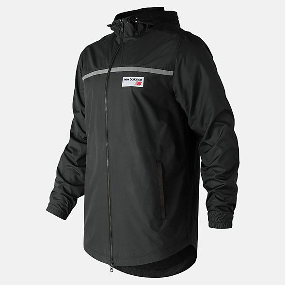 New Balance NB Athletics Lightweight Windbreaker, MJ81507BK