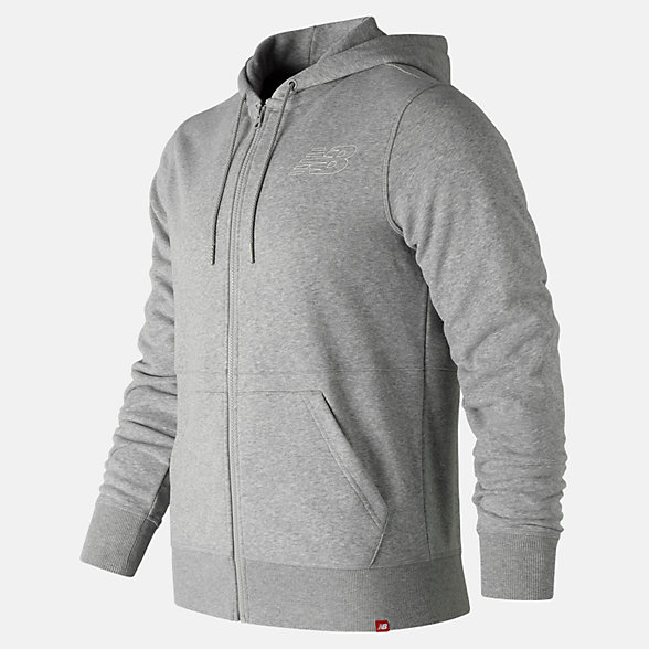 New Balance Essentials Full Zip Hoodie, MJ81508AG