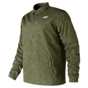 New Balance Classic Printed Coaches Jacket, Covert Green