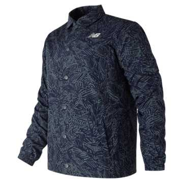 New Balance Classic Printed Coaches Jacket, Moontide