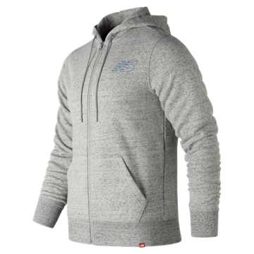 New Balance Heather Full Zip Hoodie, Heather Grey