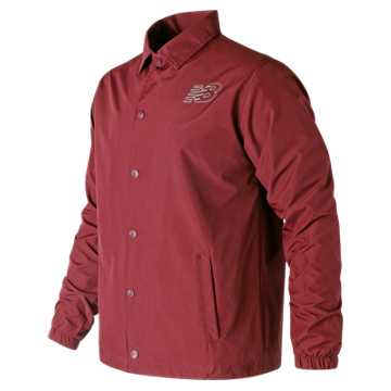 New Balance Classic Coaches Jacket, Scarlet