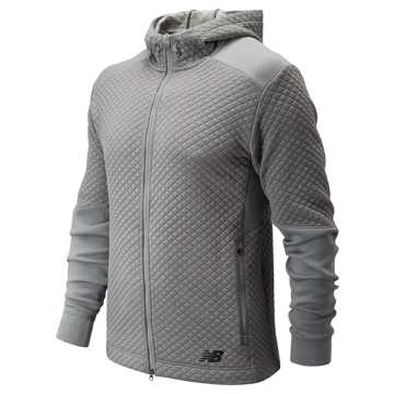 New Balance NB Heat Loft Full Zip Hoodie, Athletic Grey