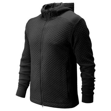 New Balance NB Heat Loft Full Zip Hoodie, Black