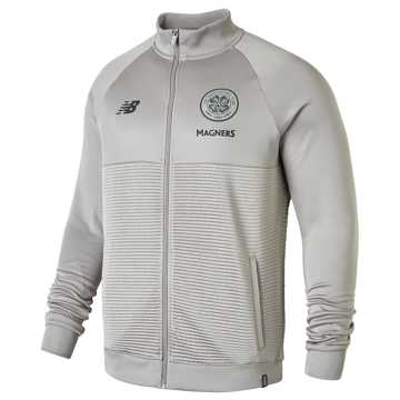 New Balance Celtic FC Elite Training Walk Out Jacket, Frost Grey