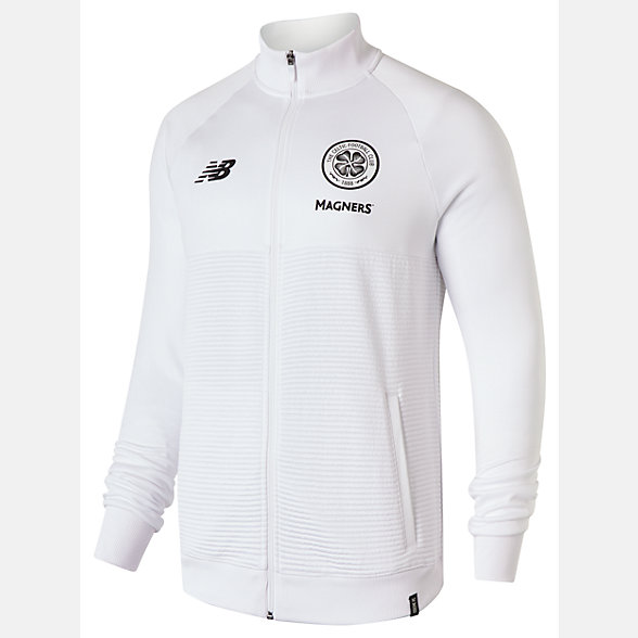 New Balance Celtic FC Elite Training Walk Out Jacket, MJ831051WT