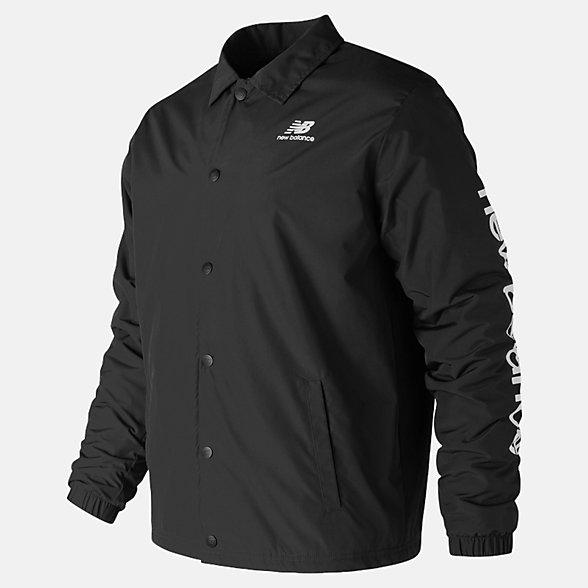 New Balance Manteau d'hiver d'entraîneur Essentials, MJ83511BK