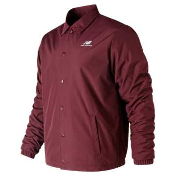 New Balance NYC Marathon Essentials Winter Coaches Jacket, Burgundy