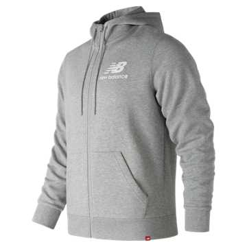 New Balance Essentials Brushed Scuba Jacket, Athletic Grey