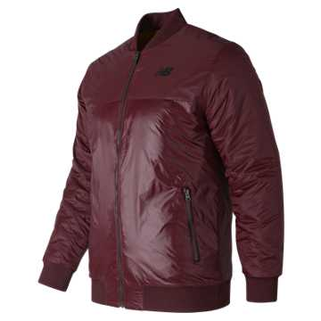 New Balance NB Thermal Bomber  Jacket, Burgundy