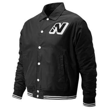 New Balance Varsity Jacket, Black