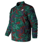 NB Essentials Camo Winter Coaches Jacket, Deep Jade