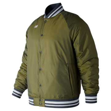 New Balance Dug Out Jacket, Dark Covert Green