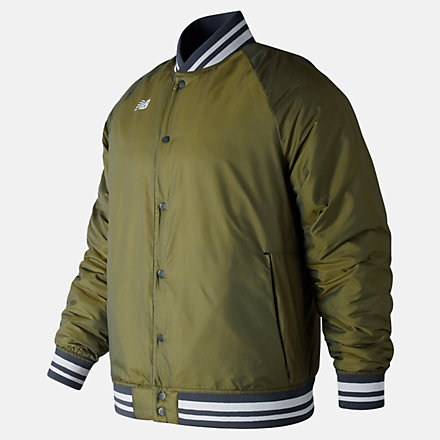 New Balance Dug Out Jacket, MJ83710DCG image number null
