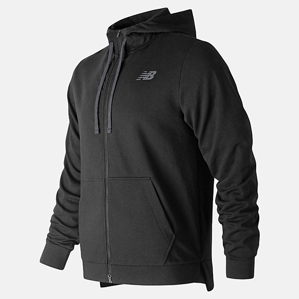 NB NB Warm Up Full Zip Hoodie, MJ91012BK