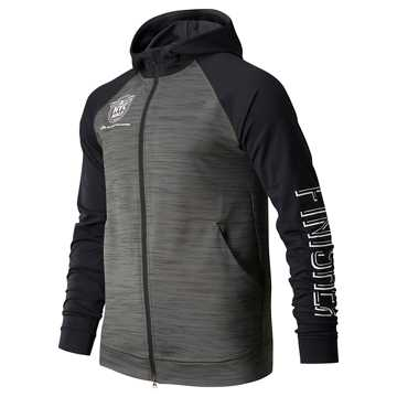 New Balance United Airlines Anticipate 2.0 Finisher Jacket, Heather Charcoal