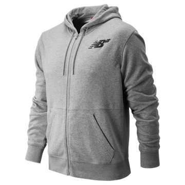 New Balance NB Numeric Full Zip Hoodie, Athletic Grey