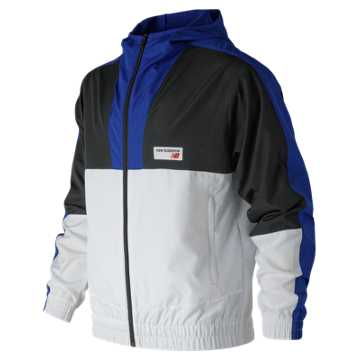 New Balance NB Athletics Windbreaker, Team Royal with Black & White